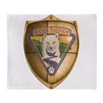 WooFDriver Gold Cross Shield Throw Blanket