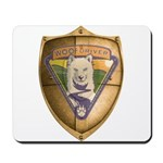 WooFDriver Gold Cross Shield Mousepad