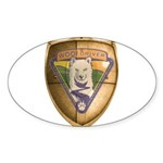 WooFDriver Gold Cross Shield Sticker