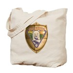 WooFDriver Gold Cross Shield Tote Bag