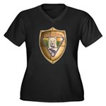 WooFDriver Gold Cross Shield Plus Size T-Shirt