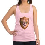 WooFDriver Gold Cross Shield Racerback Tank Top
