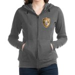 WooFDriver Gold Cross Shield Women's Zip Hoodie