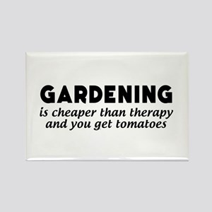 Gardening is cheaper than therapy T-shirts Magnets