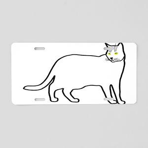 Kitty team #3 Aluminum License Plate