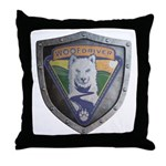 WooFDriver Bolted Shield Throw Pillow