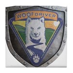 WooFDriver Bolted Shield Tile Coaster