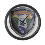 WooFDriver Bolted Shield Large Wall Clock