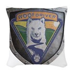 WooFDriver Bolted Shield Woven Throw Pillow
