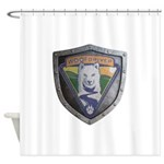 WooFDriver Bolted Shield Shower Curtain