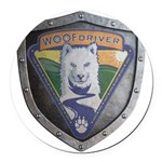 WooFDriver Bolted Shield Round Car Magnet