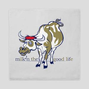 Cow Milking the Good Life Queen Duvet