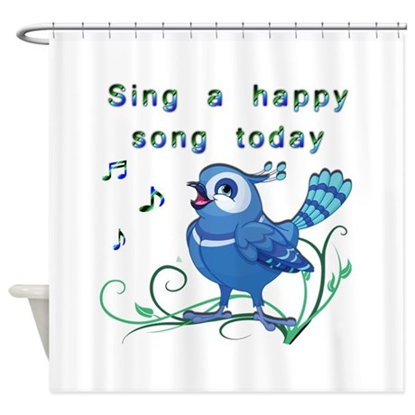 Sing A Happy Song Shower Curtain By Wingspiration