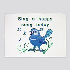 Sing a Happy Song- 5'x7'Area Rug