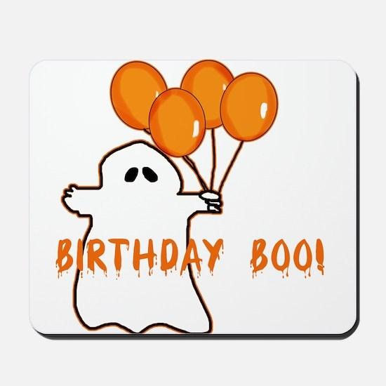 Halloween Birthday Boo Mousepad