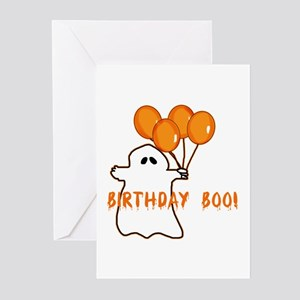 Halloween Birthday Boo Greeting Cards Package Of