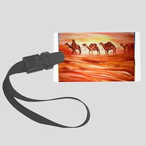 Camels, desert art Luggage Tag