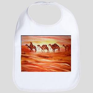 Camels, desert art Bib