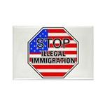 Stop Illegal Immigrants Rectangle Magnet (10 pack)