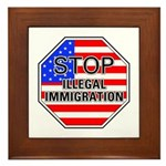 Stop Illegal Immigrants Framed Tile
