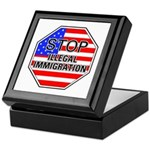 Stop Illegal Immigrants Keepsake Box