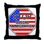 Stop Illegal Immigrants Throw Pillow