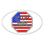 Stop Illegal Immigrants Oval Sticker