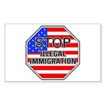 Stop Illegal Immigrants Rectangle Sticker