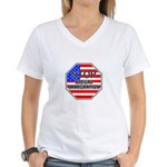 Stop Illegal Immigrants Women's V-Neck T-Shirt