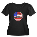 Stop Illegal Immigrants Women's Plus Size Scoop Ne
