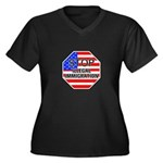 Stop Illegal Immigrants Women's Plus Size V-Neck D