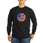 Stop Illegal Immigrants Long Sleeve Dark T-Shirt