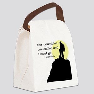 Mountains Calling Canvas Lunch Bag