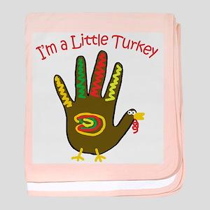 I'm a Little Turkey baby blanket