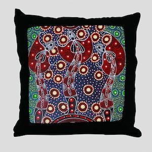 ABORIGINAL ART 4 Throw Pillow
