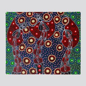 ABORIGINAL ART 4 Throw Blanket