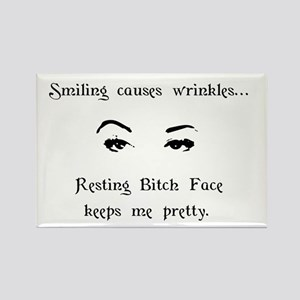Resting Bitch Face Rectangle Magnet