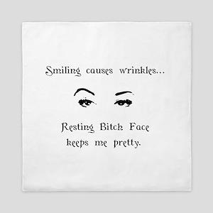 Resting Bitch Face Queen Duvet