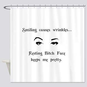 Resting Bitch Face Shower Curtain