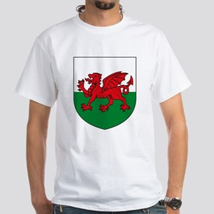 Wales Coat of Arms White T-Shirt