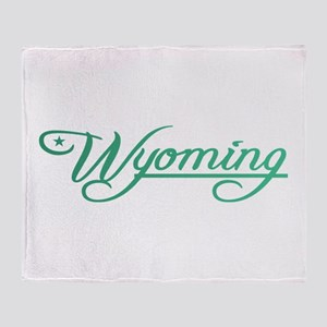 Wyoming State of Mine Throw Blanket