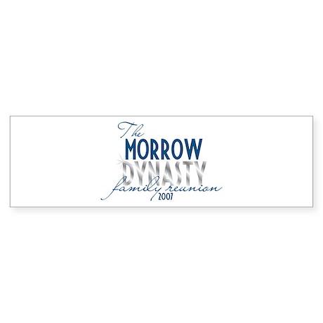 MORROW dynasty Bumper Sticker