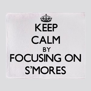 Keep Calm by focusing on S'Mores Throw Blanket