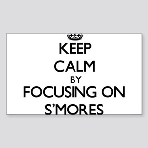 Keep Calm by focusing on S'Mores Sticker