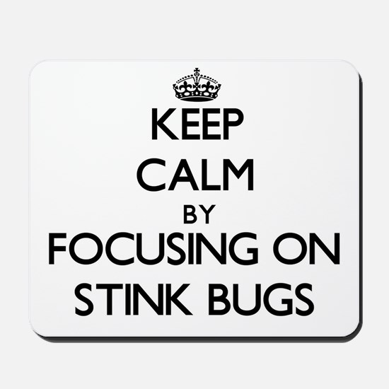 Keep Calm by focusing on Stink Bugs Mousepad