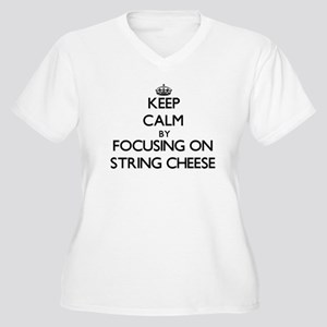 Keep Calm by focusing on String Plus Size T-Shirt