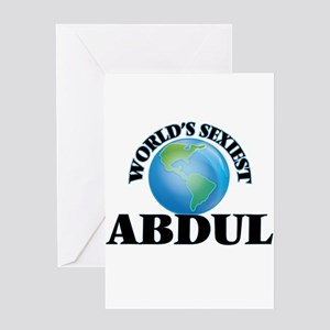World's Sexiest Abdul Greeting Cards