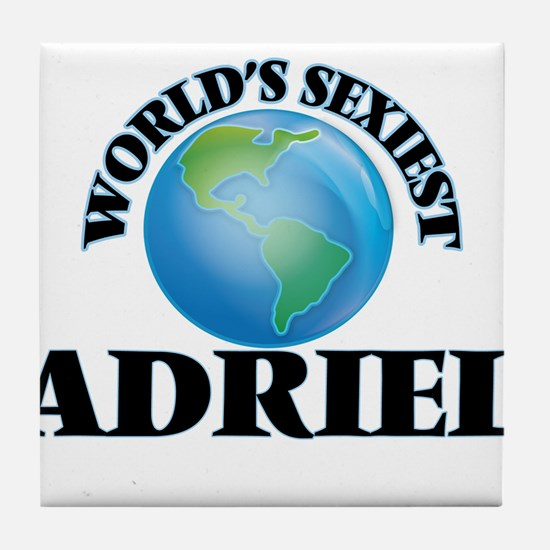 World's Sexiest Adriel Tile Coaster