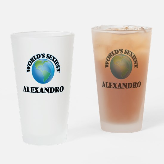 World's Sexiest Alexandro Drinking Glass