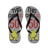 50th birthday gag Flip Flops